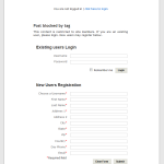 Kubrick stylesheet login and registration forms example